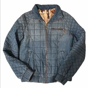 Boteley Fashions Barcelona Quilted Bomber Denim